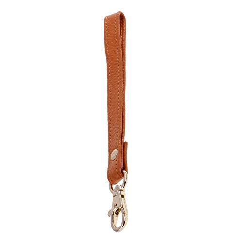 DalaB Genuine Leather Replacement Wrist Strap Handle for Clutch Wristlet Purse Handbag Color: Brown