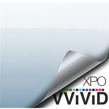VViViD Space Pearl White Gloss 12 Inches x 5 Feet Vinyl Wrap Film for DIY No Mess Easy to Install Air-Release Adhesive