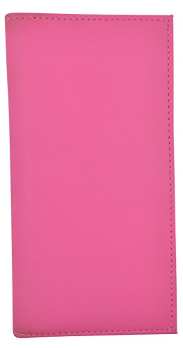 Basic PU Leather Checkbook Covers NEW COLORS (Hot Pink)