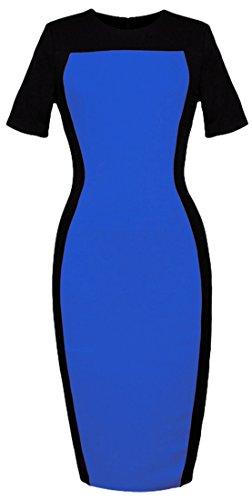 HOMEYEE Womens Fashion Colorblock Sleeve