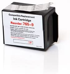 Myriad Compatible Postal Ink Cartridges DM400C DM450C Replacement for Pitney Bowes 765-9; Models: DM300C 3 Inkjet Cartridges Bulk: C765-9 etc; Red Ink
