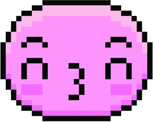 Cute Sweet Kawaii Pixelated Video Game Emoticon Emoji