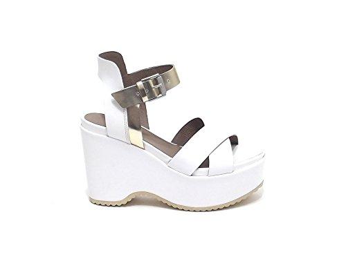 Janet Sport - Sandalias de vestir para mujer Blanco blanco