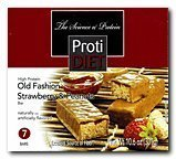 ProtiDIET Delicious Protein Bar | Nutritious Low Fat & Carb Snack With High Vitamins & Minerals | | Healthy & Energizing Small Meal | Assists In Weight Loss (Old Fashion Strawberry & Peanut)