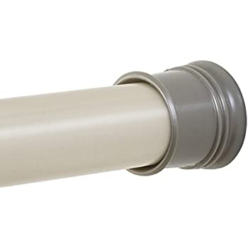 Zenna Home 505ST Tension Shower Curtain Rod 44 To 72 Inch Brushed Nickel