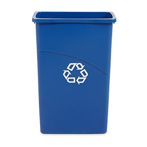 Rubbermaid Slim Jim Waste Container, 87 L - Blue
