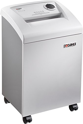 Dahle 41214 CleanTEC Small Office Shredder, 9-11 Sheet, Cross Cut, Shreds Staples, Paper Clips and Credit Cards, Security Level P-4, 28'' Height, 17'' Width, 13.75'' Length