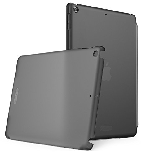 Clayco New iPad 9.7 2018/2017 Case, Clear Back Protector Lightweight Slim Fit for iPad 9.7 Case [Compatible with Offical Apple Smart Covers and Keyboard] (Frost/Black)