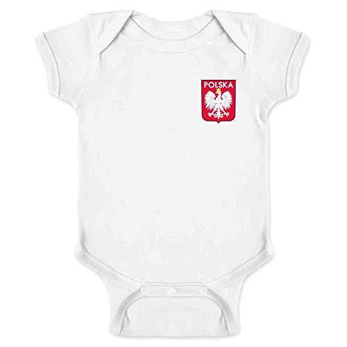 (Poland Soccer Retro National Team Sport Football White 6M Infant Bodysuit)