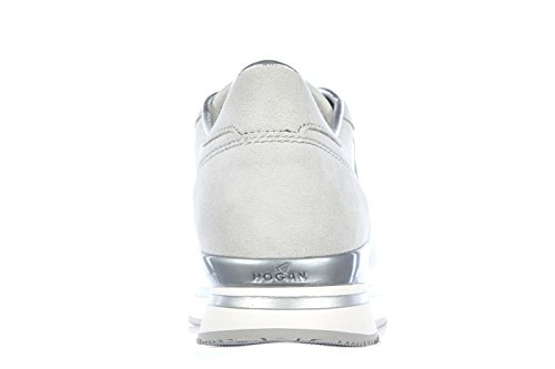 Hogan Zapatos Zapatillas de Deporte Mujer EN Ante Nuevo h222 Allacciato Gris
