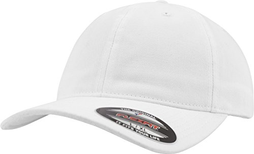 Unisex algodón Acabado Blanco de Lavado béisbol Flexfit con Gorra blanco de tWqxxA4wg