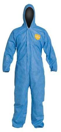 Dupont Hooded Disposable Coveralls with Elastic Cuff, SMS Material, Blue, XL XL SMS PB127SBUXL002500-1 Each