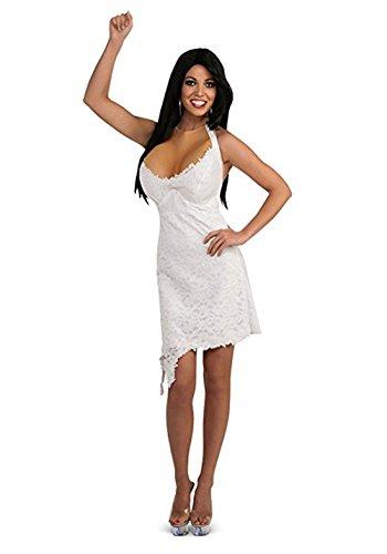 880325 Ladies Jwoww White Halter Dress with Enhancements (Ladies to Size 12) -