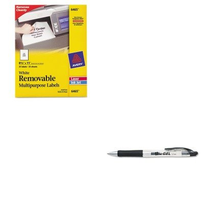 KITAVE49988AVE6465 - Value Kit - Avery Removable Inkjet/Laser ID Labels (AVE6465) and Avery eGEL Roller Ball Retractable Gel Pen (AVE49988)