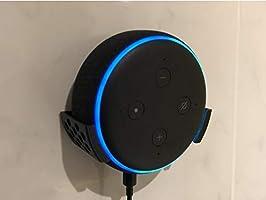 Suporte Apoio Stand De Parede Amazon Echo Dot 3 (PRETO - PARAFUSO E BUCHA)