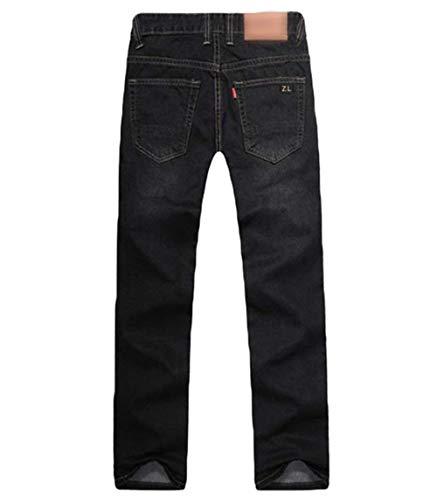 Fit Uomo Pantaloni Rigonfio Modo Ssige Diritti Piedino Per Cowboy Da Blackblau Denim T Del Epoca Slim Jeans Allentato Di gdwrpdzq