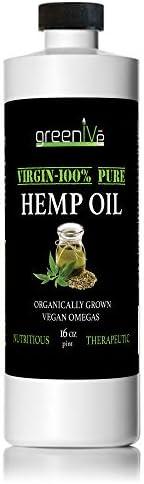 GreenIVe - Hemp Oil - Vegan Omegas - Cold Pressed - Exclusively on Amazon (16oz)