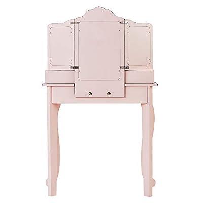 Teamson Kids Adriana Little Lady Gisele Toy Vanity Set-Pink/Black: Kitchen & Dining
