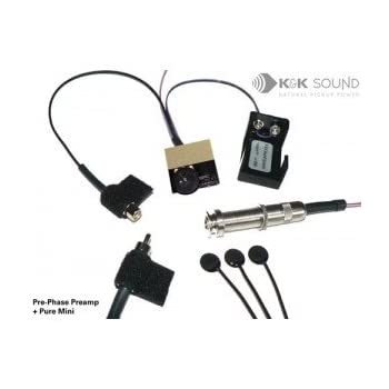k k sound pure mini guitar pickup w pre phase preamp musical instruments. Black Bedroom Furniture Sets. Home Design Ideas
