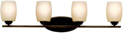 Kichler 5099OZ Bath Vanity Wall Lighting Fixtures, Bronze 4-Light 34 W x 10 H 400 Watts