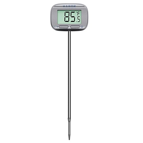 Review Habor Digital Meat Thermometer 5 Second Instant Read Head-Rotate Cooking Thermometer for Cand...