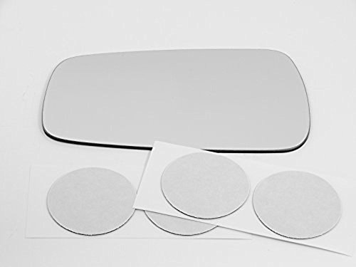 (Fits 88-94 Mazda 323, 90-94 Protege, 90-93 Festiva Left Driver Power Mirror Clear Glass Lens w/Adhesive USA )