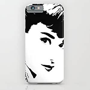 Audrey Simply Beautiful In Black And White For SamSung Galaxy S6 Case Cover Case by Saundra Myles