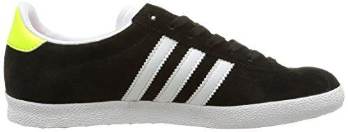 adidas Gazelle OG, Women's Trainers Black - Schwarz (Core Black/Ftwr White/Solar Yellow)