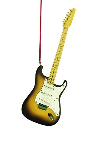 Electric Guitar Music Instrument Resin Stone Christmas Tree Ornament