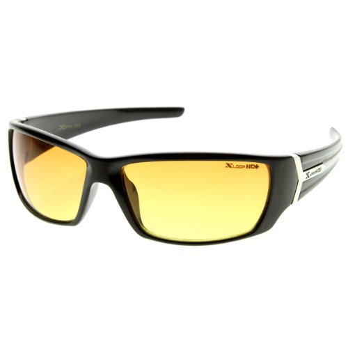 X-Loop - High Def HD Lens Modified Square Sports Frame Xloops Sunglasses (Shiny - Def Sunglasses High