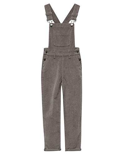 Celebrity Pink Gray Girls Corduroy Overalls, Grey, Large
