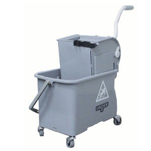 Mop Dual Bucket with Side Wringer, 4 gal. by Unger