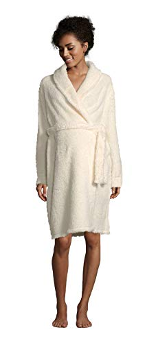 LAMAZE Intimates Womens Maternity Super Soft and Comfortable Warm Fleece Robe Coconut X-Large