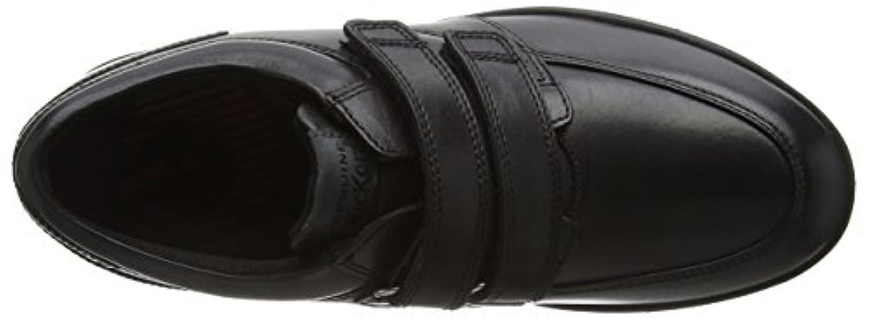 Kickers Boys' Troiko Strap-Youth Loafers, Black (Black), 4 UK 37 EU