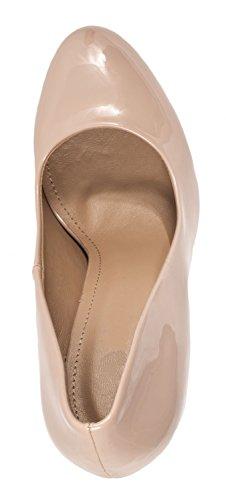 Elara - Botas plisadas Mujer Nude Fashion