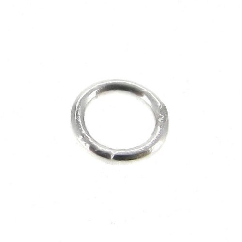 20 pcs .925 Sterling Silver 6mm Round Closed / Soldered Jump Rings 21 Gauge / 0.7mm Wire / Connector / Findings / Bright (Round Closed Ring)