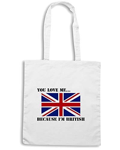 Speed Shirt Borsa Shopper Bianca OLDENG00126 IM BRITISH