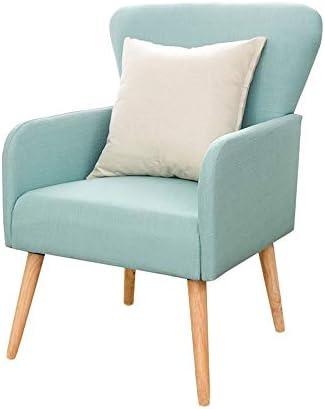 ソファー リビングルーム、ベッドルームのための現代レジャー布張りの椅子アームチェア、クラブ、オフィスマルチカラーオプション 家具 (Color : Yellow, Size : Free size)