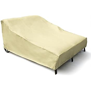 Mr. Bar-B-Q Backyard Basics Eco-Cover PVC Free Double Chaise Lounge Cover  sc 1 st  Amazon.com : double chaise lounge cover - Sectionals, Sofas & Couches