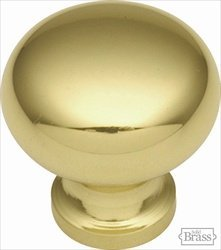 (Belwith Keeler Period Brass Collection 3/4 Cabinet Knob Polished Brass by Belwith)