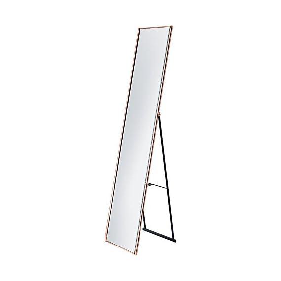 """Adesso WK2444-20 Alice Floor Mirror, Copper Finish - Satin steel 59""""H x 13.5""""W Open depth: 14.5"""" - mirrors-bedroom-decor, bedroom-decor, bedroom - 31FkrnG2BUL. SS570  -"""