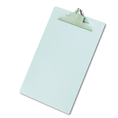 Saunders 22519 Recycled Aluminum Clipboard - Silver, Legal Size, 8.5 in. x 14 in. Document Holder with High Capacity Clip ()
