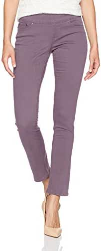 Jag Jeans Women's Petite Peri Pull On Straight Leg Pant in Bay Twill