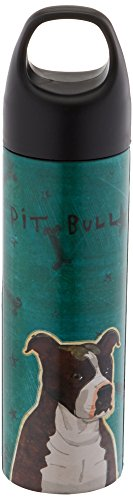 Tree-Free Greetings VB48016 John W. Golden Artful Traveler Stainless Steel Water Bottle, 18-Ounce, Brindle Pit (Water Pit)