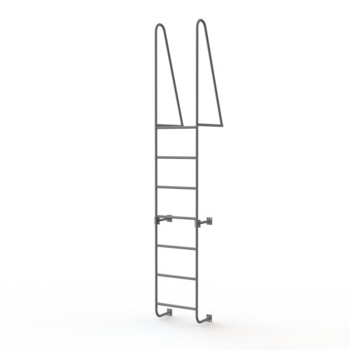 Tri-Arc WLS7WT 7-Step Steel Industrial & Warehouse Walk-Thru Dock Ladder with Guardrails