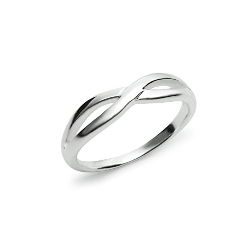 925 Sterling Silver Unisex Infinity Twisted Band Ring - Size 11 - Olympic Costumes Ideas