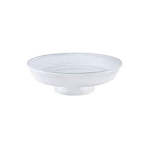 Bordallo Pinheiro RUA Nova Footed Fruit Bowl 35, White Antique