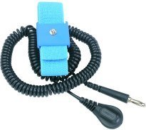 DESCO 09070 Anti-Static Grounding Elastic Wrist Strap with Coil Cord