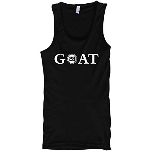Fanbuild Goat Baseball Pinstripes #28 Basic Mens Tank (Medium, Black)