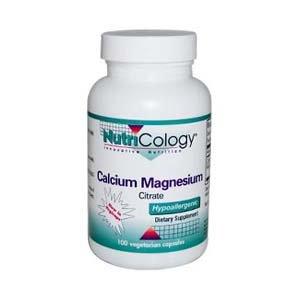 Le citrate de magnésium Nutricology calcium, Vegicaps, 100-Comte
